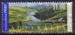 Sellos de Oceania - Australia -  AUSTRALIA 2001 Michel 2062 SELLO PAISAJE RIO MURRUMBIDGEE