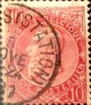 Sellos de Europa - Bélgica -  Intercambio 0,40 usd 10 cents. 1900