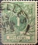 Sellos del Mundo : Europa : Bélgica : Intercambio 0,30 usd 1 cent. 1869