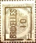 Sellos de Europa - Bélgica -  Intercambio 0,20 usd 1 cents. 1907