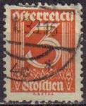 Sellos del Mundo : Europa : Austria : AUSTRIA 1925 Michel 449 SELLO SERIE BASICA NUMEROS