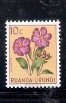 Sellos de Africa - Rwanda -  Flor: Dissotis
