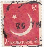 Stamps : Asia : Pakistan :  luna menguante -
