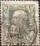 Stamps Belgium -  Intercambio 4,00 usd 50 cents. 1905