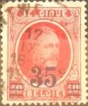 Stamps Belgium -  Intercambio 0,20 usd 35 sobre 40 cents. 1927