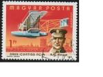 Sellos de Europa - Hungría -  avion navy curtis