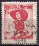 Stamps Austria -  AUSTRIA 1948 Michel 925 SELLO SERIE TRAJES TIPICOS AUSTRIACOS