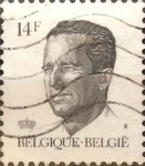 Stamps Belgium -  Intercambio 0,20 usd 14 francos 1990