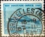 Sellos de Europa - Bélgica -  Intercambio 0,20 usd 1,35 francos 1946