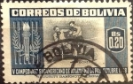 Stamps : America : Bolivia :  Intercambio 0,20 usd  20 cents.  1951