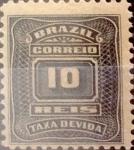 Stamps : America : Brazil :  Intercambio 0,20 usd  10 r. 1906