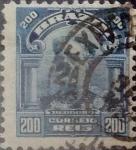 Stamps : America : Brazil :  Intercambio 0,20 usd  200 r. 1906