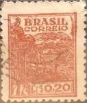 Sellos de America - Brasil -  Intercambio 0,20 usd  20 cents. 1947