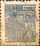 Stamps : America : Brazil :  Intercambio 0,20 usd  1,20 cr. 1947