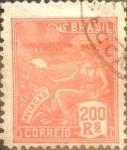 Stamps : America : Brazil :  Intercambio 0,40 usd  200 r. 1922