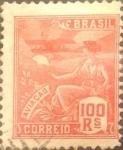Stamps : America : Brazil :  Intercambio 0,40 usd  100 r. 1922