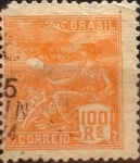 Sellos de America - Brasil -  Intercambio 0,40 usd  100 r. 1922