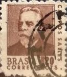 Stamps : America : Brazil :  Intercambio 0,20 usd  20 cents. 1967