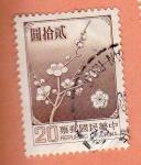 Sellos de Asia - China -  Flor