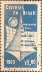 Stamps Brazil -  Intercambio 0,25 usd  11 cr. 1960