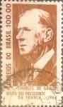 Sellos de America - Brasil -  Intercambio 0,20 usd  100 cr. 1964