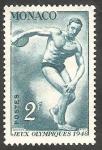 Stamps : Europe : Monaco :  321 - Olimpiadas de Londres, lanzamiento de disco