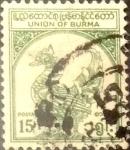 Sellos del Mundo : Asia : Myanmar : Intercambio crxf 0,20 usd  15 p. 1954