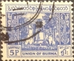 Stamps : Asia : Myanmar :  Intercambio 0,20 usd  5 p. 1954