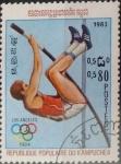 Stamps Cambodia -  Intercambio cxrf2 0,20 usd  80 cents. 1983