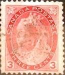 Stamps Canada -  Intercambio 1,00 usd 3 cents. 1898