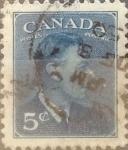 Sellos de America - Canadá -  Intercambio 0,20 usd 5 cents. 1949