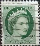 Sellos del Mundo : America : Canadá : Intercambio 0,20 usd 2 cents. 1954