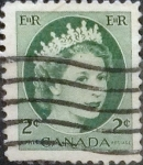 Sellos de America - Canadá -  Intercambio 0,20 usd 2 cents. 1954