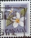 Stamps : America : Canada :  Intercambio 0,20 usd 15 cents. 1979