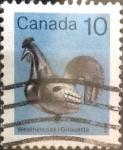 sello : America : Canadá : Intercambio crf 0,20 usd 10 cents. 1982
