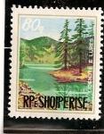 Stamps : Europe : Albania :  Lago y montaña