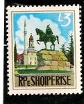 Stamps : Europe : Albania :  Monumento en Tirana.