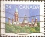 Sellos de America - Canadá -  Intercambio 0,20 usd 34 cents. 1985