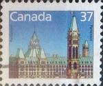 Stamps : America : Canada :  Intercambio mxb 0,20 usd 37 cents. 1987