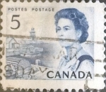 Stamps Canada -  Intercambio 0,20 usd 5 cents. 1967