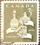 Stamps : America : Canada :  Intercambio 0,20 usd 3 cents. 1965