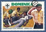 Stamps of the world : Dominica :  Jamboree de Scouts del Caribe en Jamaica