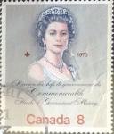 Sellos de America - Canadá -  Intercambio 0,20 usd 8 cents. 1973