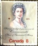 Stamps : America : Canada :  Intercambio agm 0,20 usd 8 cents. 1973