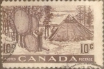 sello : America : Canadá : Intercambio 0,20 usd 10 cents. 1950