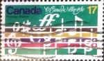 Stamps : America : Canada :  Intercambio 0,20 usd 17 cents. 1980