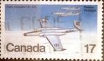 sello : America : Canadá : Intercambio crf 0,20 usd 17 cents. 1980