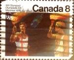 Stamps : America : Canada :  Intercambio 0,20 usd 8 cents. 1976
