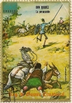 Stamps Africa - Equatorial Guinea -  Don Quijote la persecucion