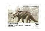 Sellos de Africa - Guinea Ecuatorial -  Fauna Prehistorica